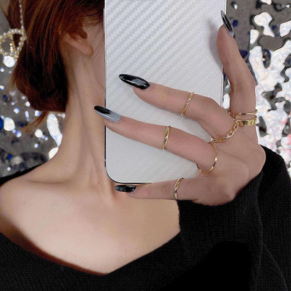 Yüzük kadın azınlık tasarım moda net kırmızı kayıtsızlık kişilik daire mizaç yüzük küçük parmak