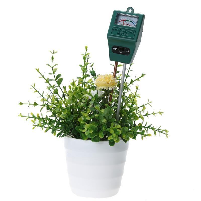 Medidor de humedad del suelo y probador de nivel de pH para plantas cultivos flores vegetales