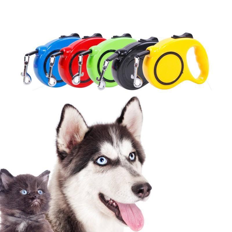 Hundekragen Leinen Einhändige Schloss Einziehbare Leine Automatische Ausstattung von Haustier Wanderleitungen für kleine mittlere und atmungsaktive st