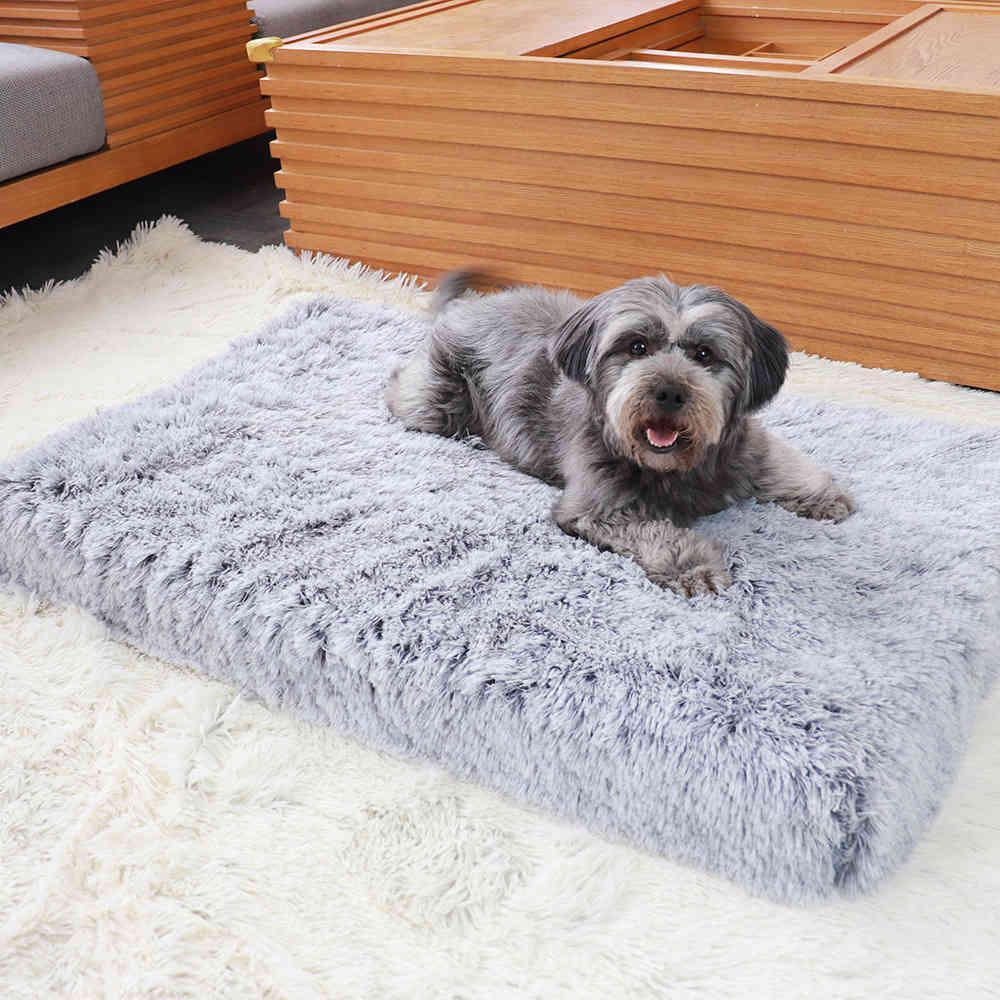 Chenil carré en peluche mat mat mat bébé chenils tapis coussins coussins couchage de chien canapé-lit animaux de compagnie fournitures