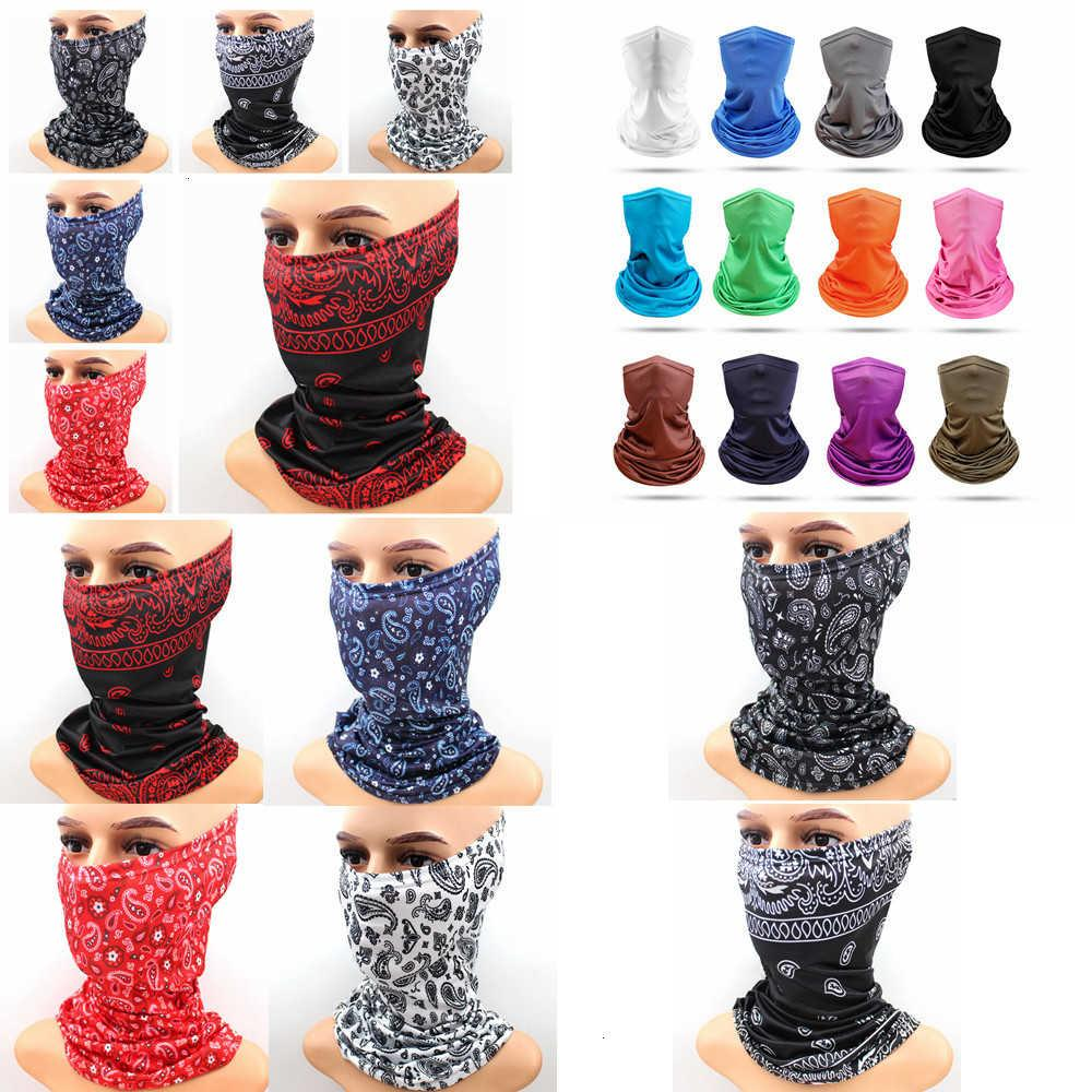 Paisley Protection Printing Solid Bandana Neck Gaiter Unisex Scarf Outdoor Breathable Face Cover for Sun Cycling Mask Ff USP6