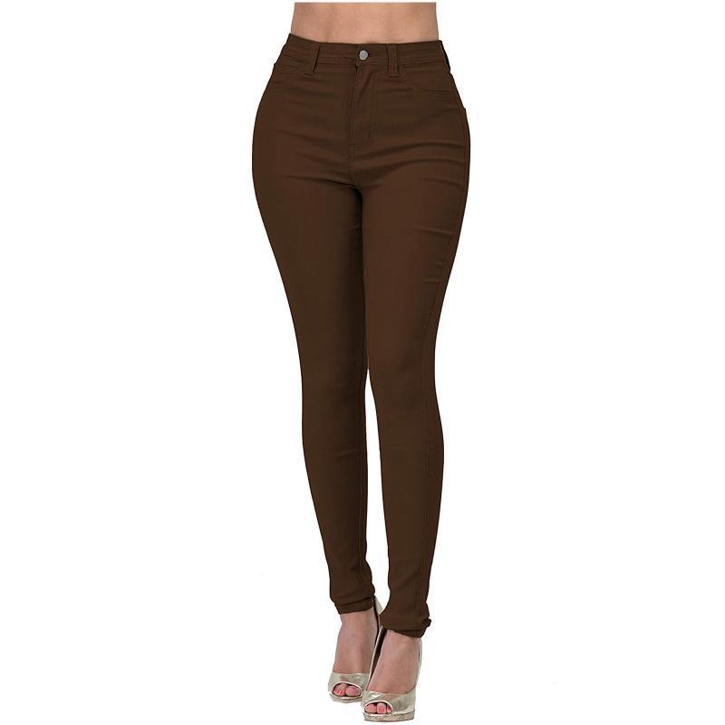 Leggings das mulheres 2021 jeans magro para mulheres magro cintura alta mulher denim calças lápis esticar calças femininas plus size primavera outono