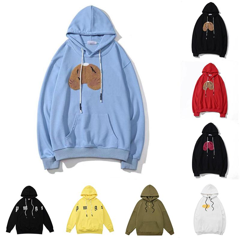 Herren Hoodies Pullover Hoodie Hip Hop Langarm Guillotine Bär Print Sweatshirts Kürzel Kürzere Bären Street Wear Pullover Sweatshirt