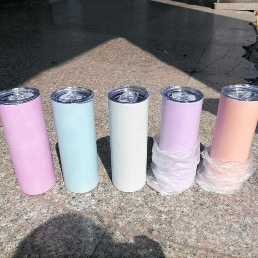 Sublimazione Colore UV Cambiare Tumbler Tumbler 20oz Tazza di Birra Birra Tazze da caffè Sunlight Sensing Acciaio inox Acciaio inossidabile Tumblers Cyz3181