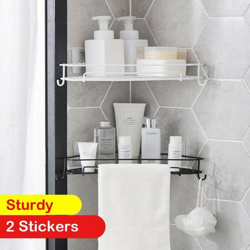 Salle de bains stockage table étagère rack corner porte-douche gel panier de shampooing