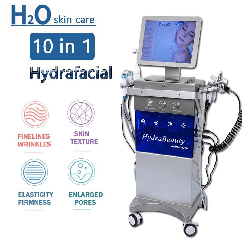 11 em 1 Máquina Hydrafacial Aqua Limpo Microdermoabrasão Profissional Oxigênio Equipamento Facial de Cristal Diamante Peeling