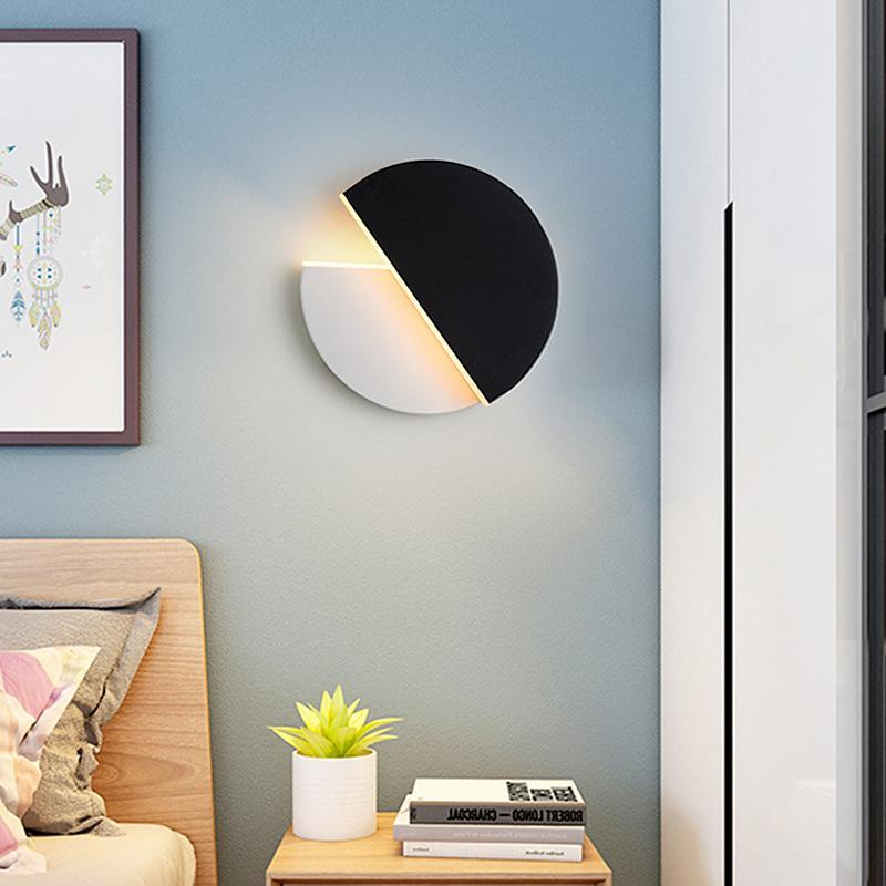 مصباح الجدار الحديثة التعاقد الحديد الفن الصمام الشمال غرفة الجلوس غرفة نوم السرير ممر دائري الاكريليك يمكن تدوير