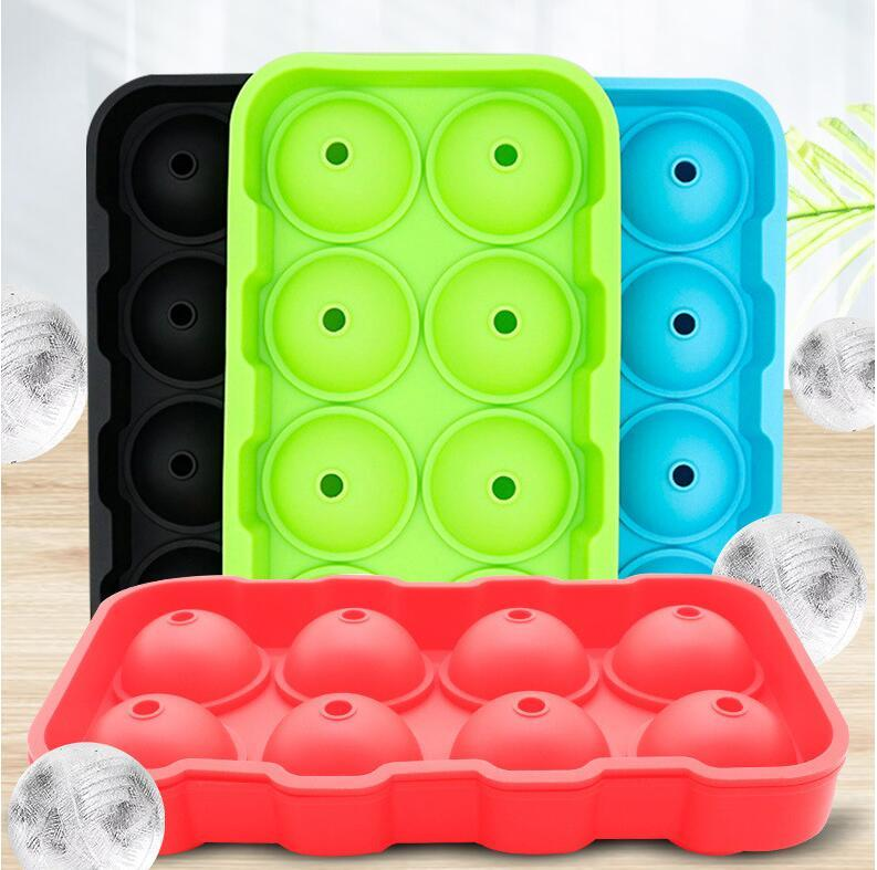 Moulds Round Ice Trays for Freezer With Lid Ball Mold Whiskey Sphere No Leaking 5 Colors Kitchen Bar Accessories Supplies Tools