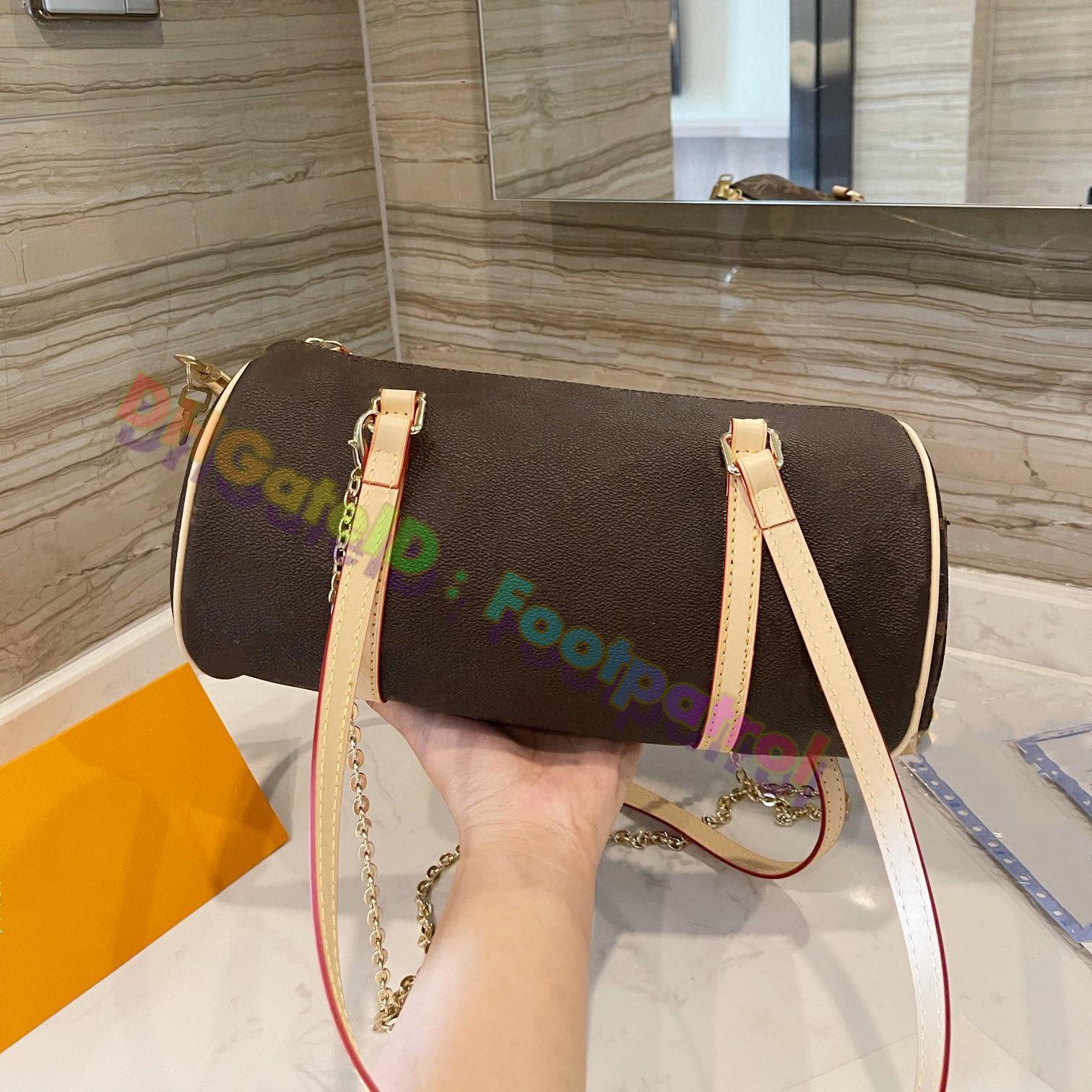 المرأة الكلاسيكية برميل حقيبة خمر حقائب الكتف الأزياء المصممين أكياس 2021 أزياء السفر عبر الجسم حقيبة يد السيدات أعلى جودة حقيقية جلد محفظة محفظة