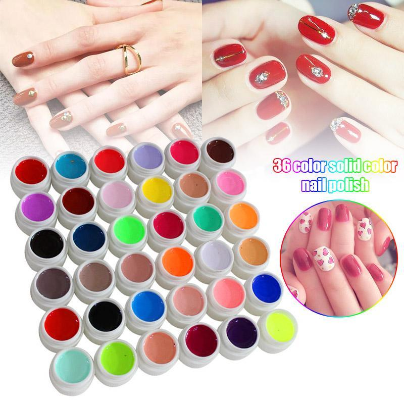 Nail Polish 36 Color Potherapy Gel Manicure Set Shop Family Essential Tools NN