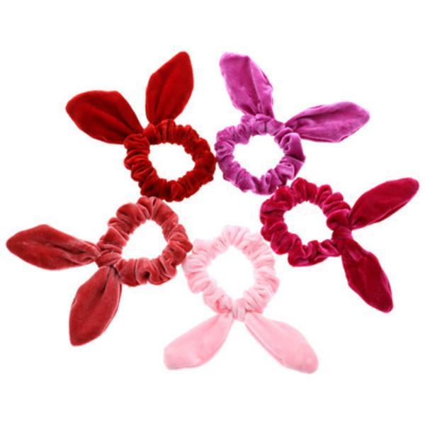 Festa favor a mulheres meninas veludo coelho orelhas elástico cabelo corda acessórios acessórios rabbit hairbands zze5633