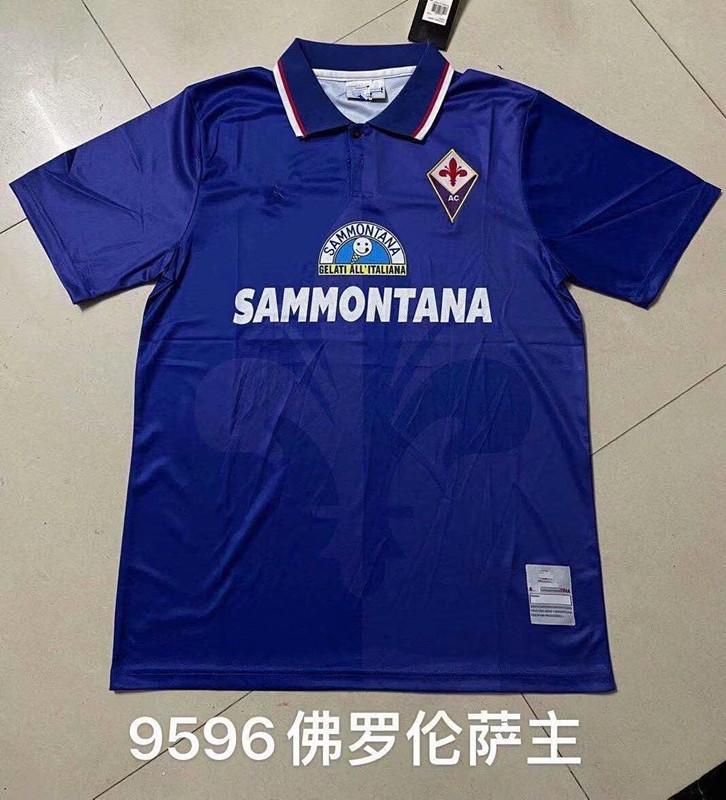 1995 1996 레트로 Fiorentina 피렌체 축구 유니폼 1988 Rui Costa Batistuta 1990 클래식 축구 셔츠 키트 Camiseta Futbol Maillot 드 발