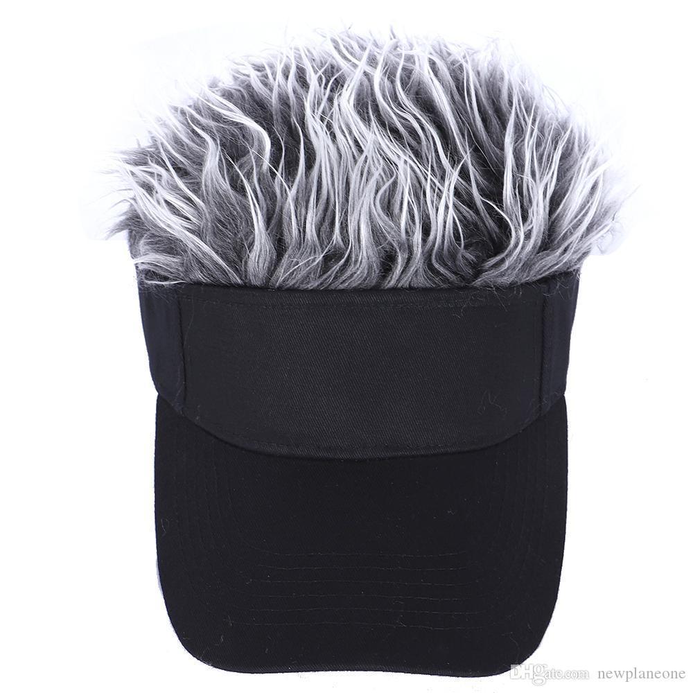 2021 Berretto da baseball con cappello da baseball parrucca per capelli con parrucche con parrucche a spillo Uomo Donna Casual Concise Sunshade Visiera solare regolabile