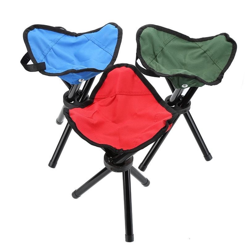 Camping Dobrável Cadeira Portátil Tubo de Liga De Alumínio Dobrável ao ar livre para Pesca Praia Caminhada Piquenique Jardim BBQ Parcel TRIPOD