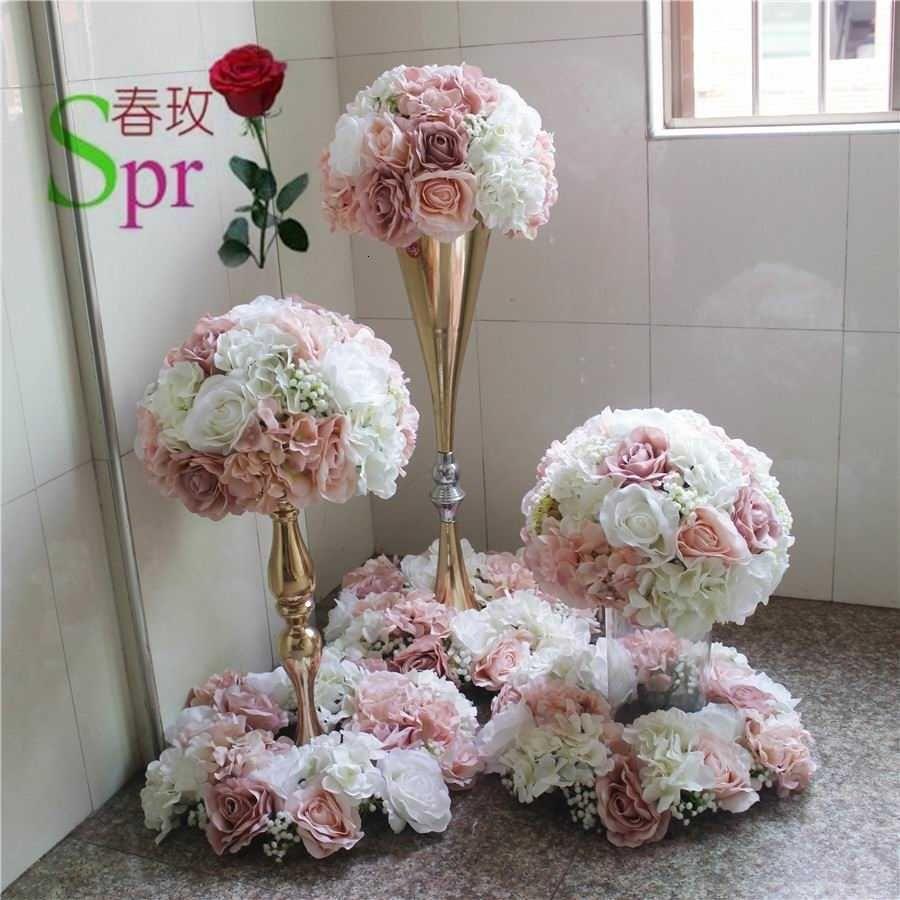 SPR Düğün Masa Merkezi Çiçek Topu Düğün Yol Kurşun Yapay Flore Centerpiece Düğün Backdrop Çiçek Dekorasyon SH190928