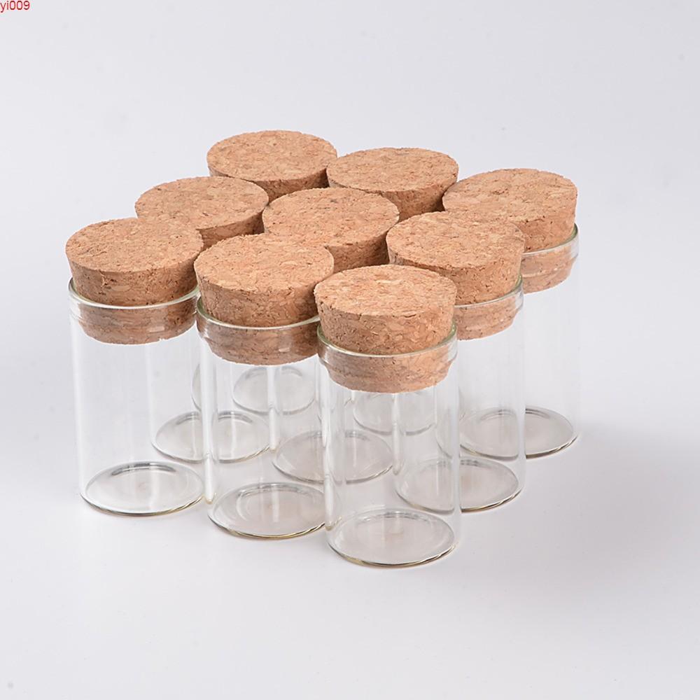 10 ملليلتر زجاجات أنبوب اختبار الزجاج فارغة مع سداد الفلين شفاف قوارير واضحة الجرار الغذاء التوابل 100 قطع شحن shippingjars