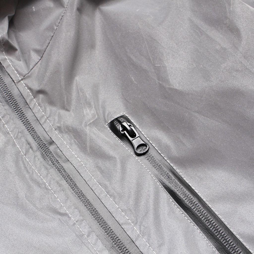 Giacca riflettente Shenlao Uomo Donna Harajuku Giacche a vento Giacche con cappuccio Streetwear Cappotto Night Shiny Maniche lunghe Abbigliamento con cappuccio