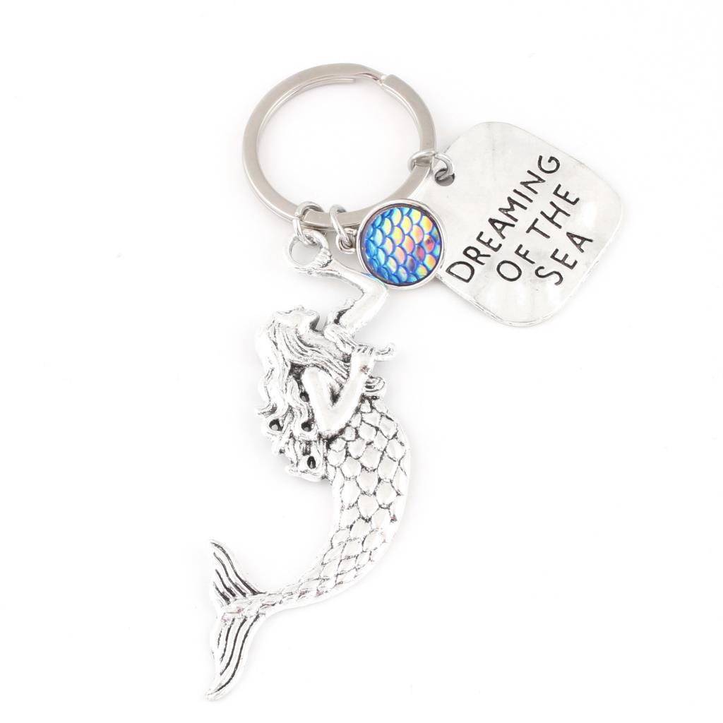 1 шт. Романтическая русалка мечтает о море брелок Blue Blue Fish весы подвеска для женщин подарочные украшения E2583 / E2584