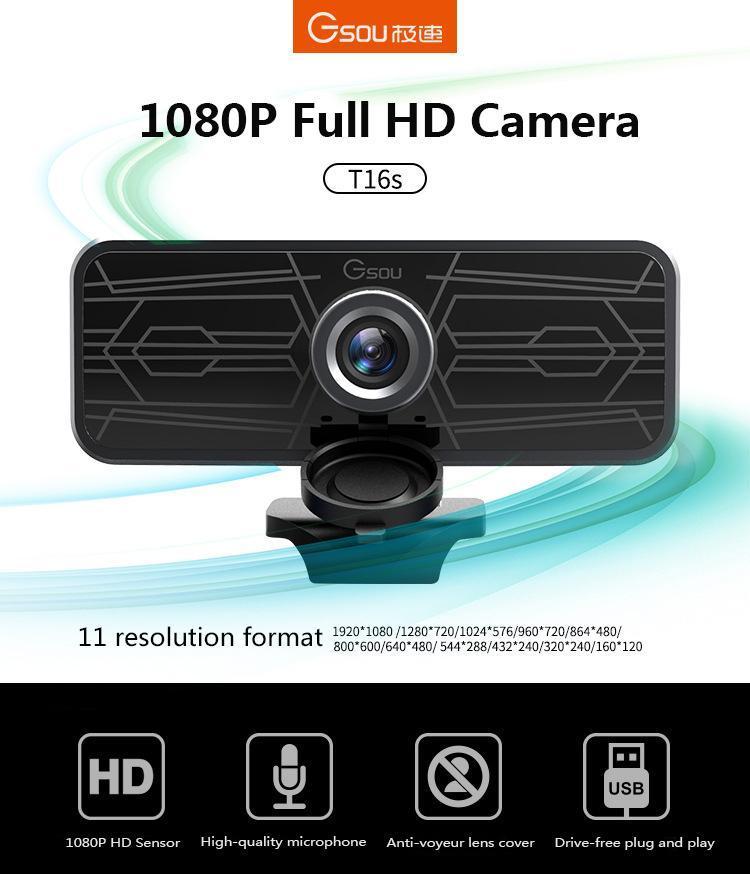 2.0 كاميرا الكمبيوتر 1080P تسجيل الفيديو HD Webcam Web مع Mic for Computer Laptop Webcams