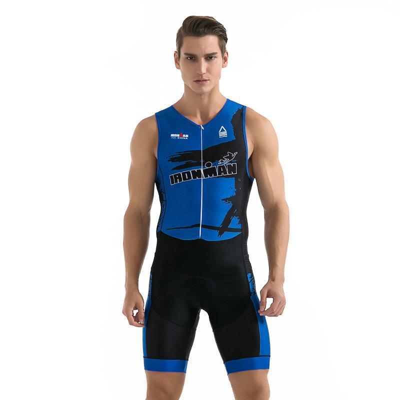 Racing Sets Triathlon Cycling Jersey Sleeveless Clothing Man Suit Bike Set For Swimming Running Riding