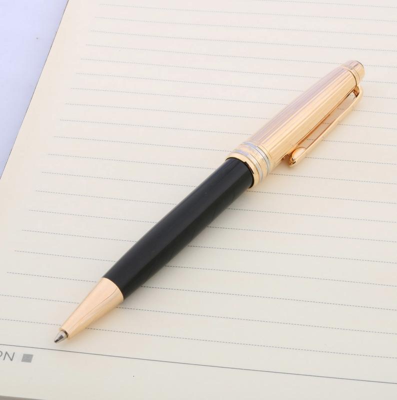 Scrittura ufficio metallo 163 cancelleria classico 925 dorato regalo nero penna a sfera