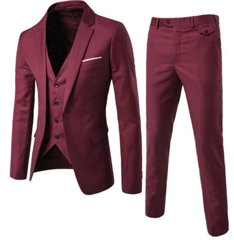 Casual da uomo classico da uomo Cappotti Cappotti Giacche Tre pezzi (vestito + pantaloni gilet) Fashion Slim Business Suits Blazer