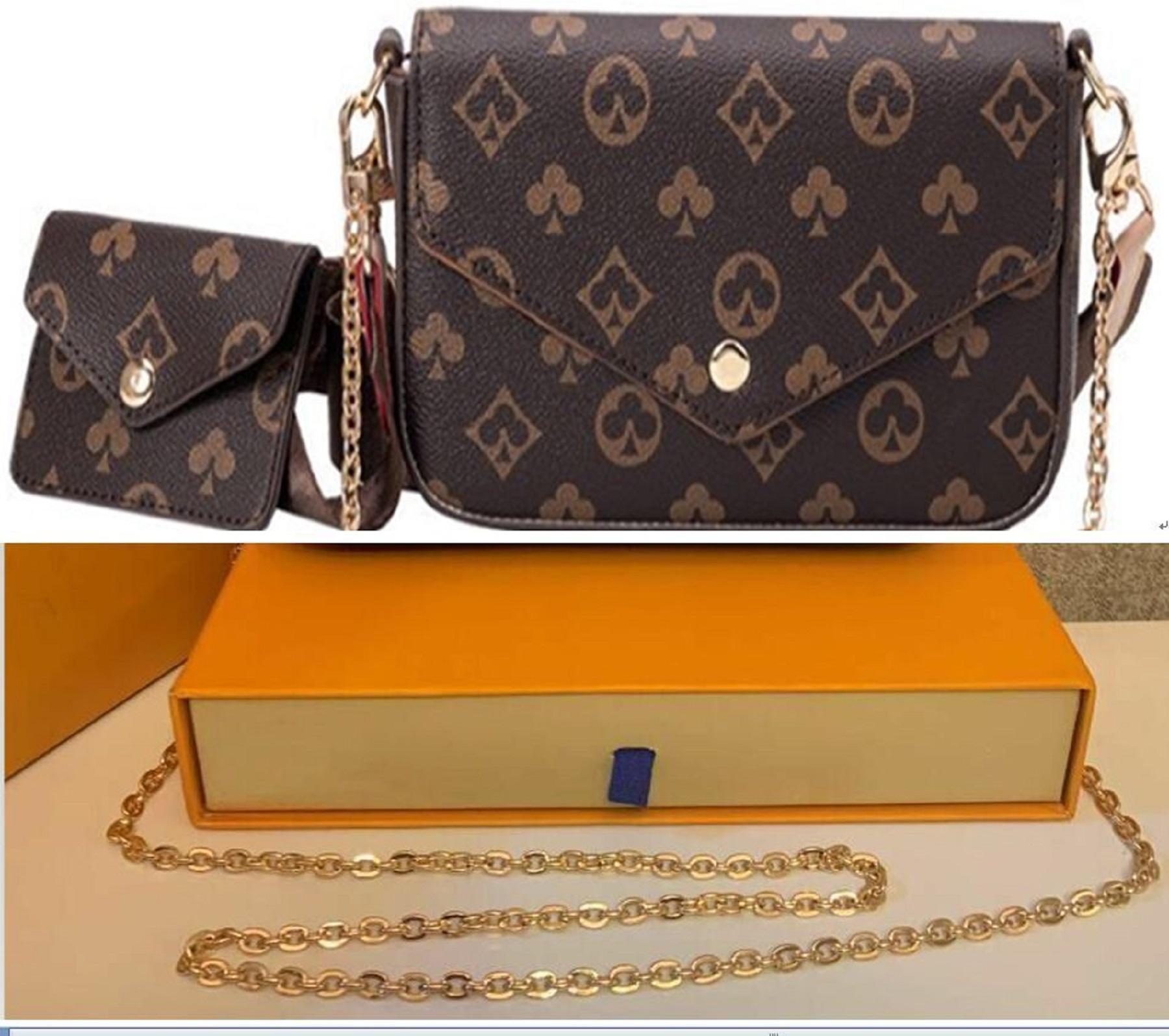 Alta calidad 4 colores enrejado 2pcs conjunto de bolsos de moda pestañas diseño bolsos bolso de mano bolsa de cuerpo cuerpo bolso de mujer bolso de hombro mensajero # 787677
