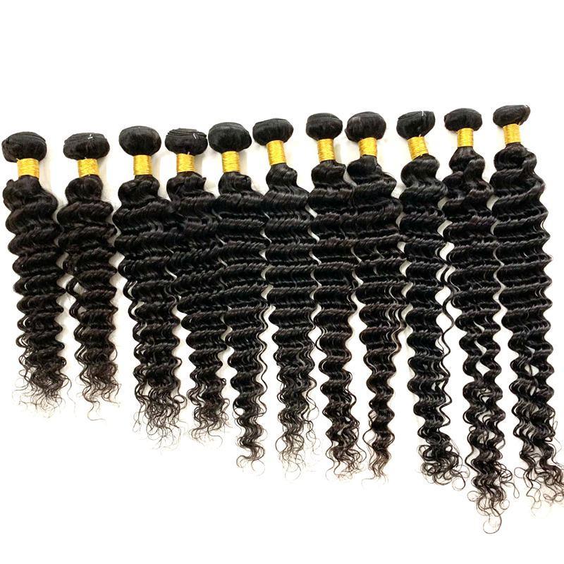 처리되지 않은 처녀 인간의 머리카락 묶음 직선 바디 웨이브 딥 브라질 인도 페루 Weft Extensions