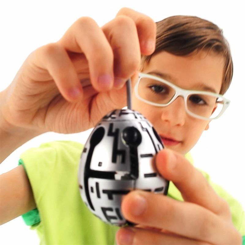 Tiktok Dekompression Spielzeug Kinder Puzzle Maze Ball Denken Spielzeug Maze Ei Osterei Dekompression Spielzeugei mit Geschenkkasten Verpackung