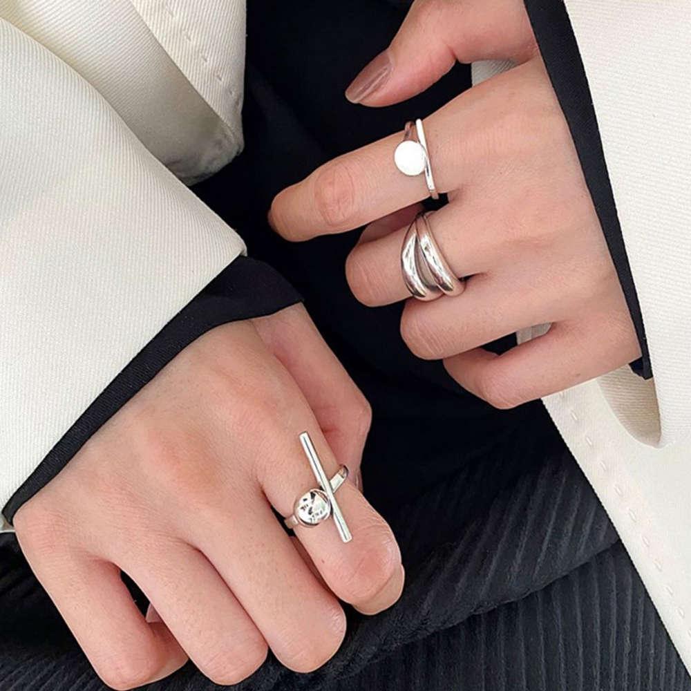 DONGDAMEN 925 Ayar Gümüş Kişiselleştirilmiş Açılış Yüzük Kadınlar için