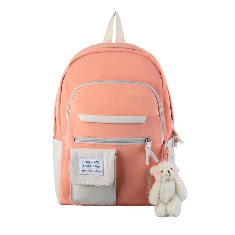 School Bags Kawaii Fashion Bookbag Designer Cute Backpack Travel Laptop Bagpack Women For Teenage Girls 2021 Korean Style