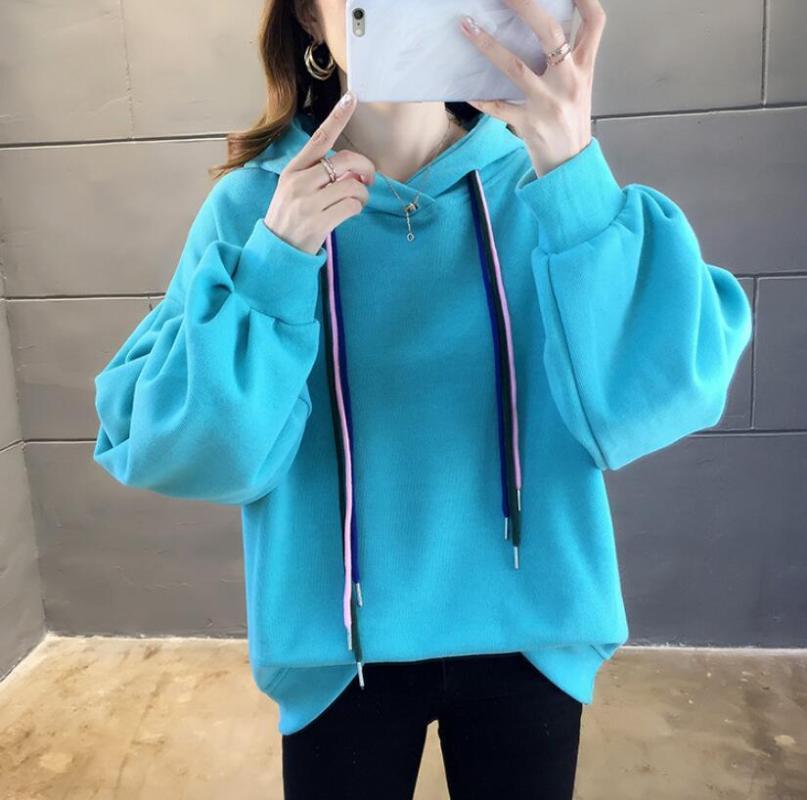 Women's Hoodies & Sweatshirts 2021 Women Long Sleeve Casual Autumn Pullovers Pockets Street Loose
