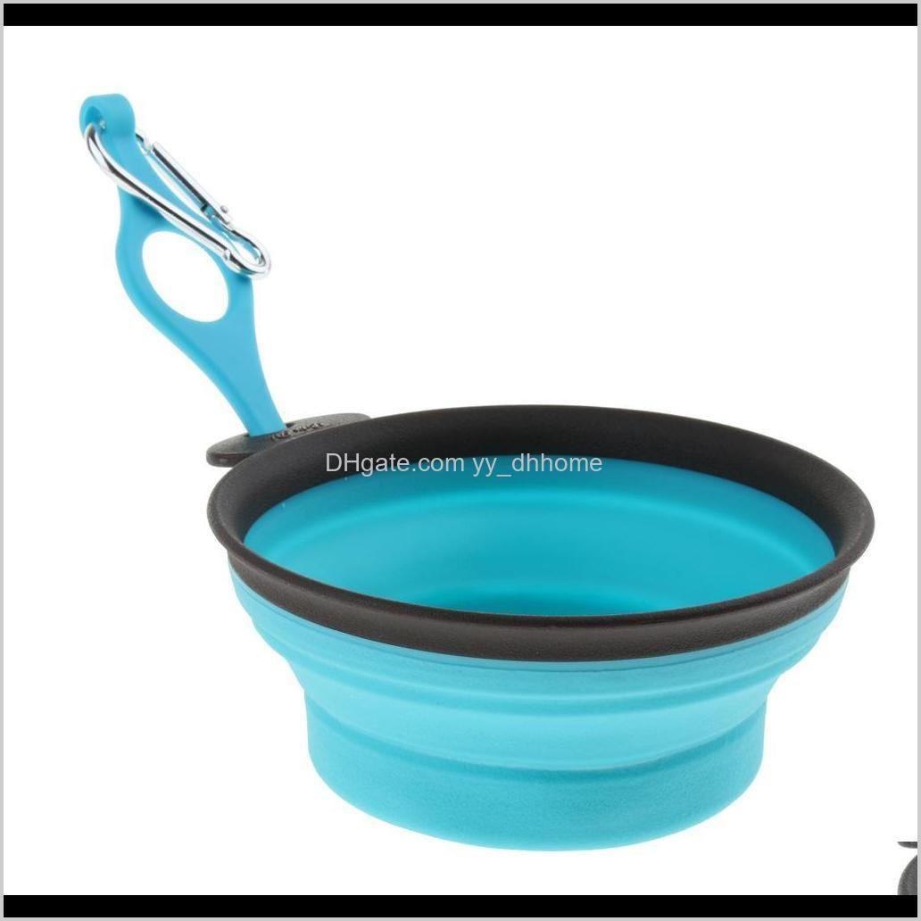 Toys Chews Folding Pet Bowl Cat Dog Bird Carrier Dish For Water Food No Leakage Portable 9U3Ir Ic2Jc