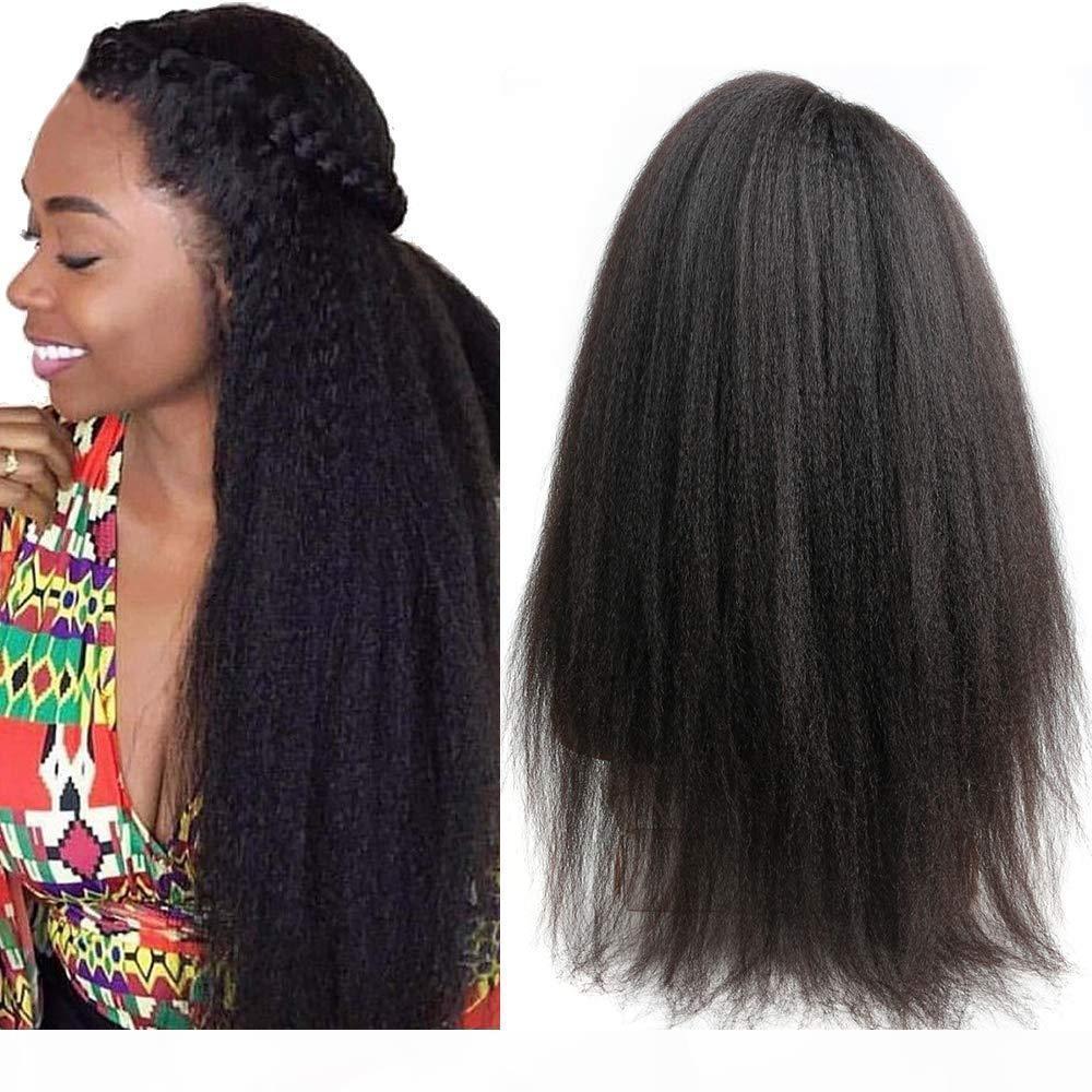 Italiano yaki 360 renda frontal perucas para as mulheres pré arrancadas peruana peruca reta 360 peruca dianteira de renda 150 densidade yaki perucas de cabelo humano