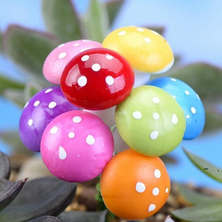 정원 장식 7 색 2cm 3cm 요정 거품 버섯 다채로운 미니어처 장식 인공 식물 microlandschaft bwe5936