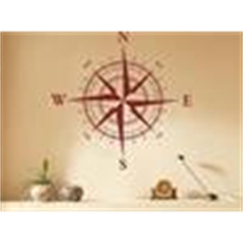 Compass Wall Decal Pegatinas Decoración Gráficos 8GCX