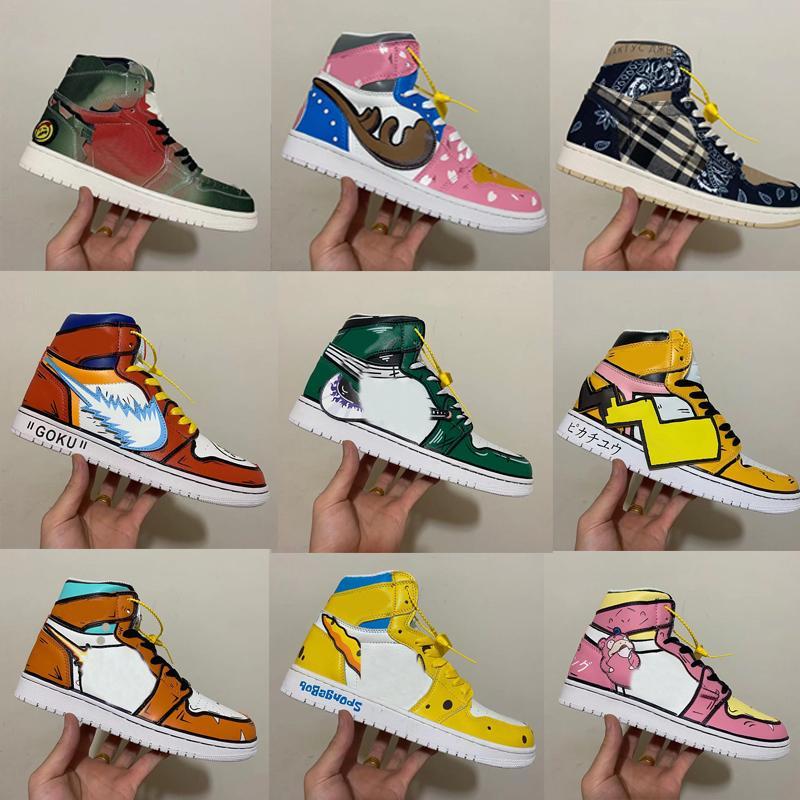 Acheter DIY FANS Jumpman 1 Chaussures De Basketball Naruto One ...