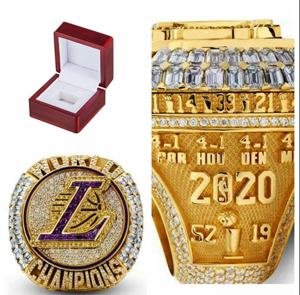 2020 оптом La Championship Rings Lakers Fashion Fants Чемпионат Подарочные кольца Вентилятор мужчин подарок оптом падение доставки