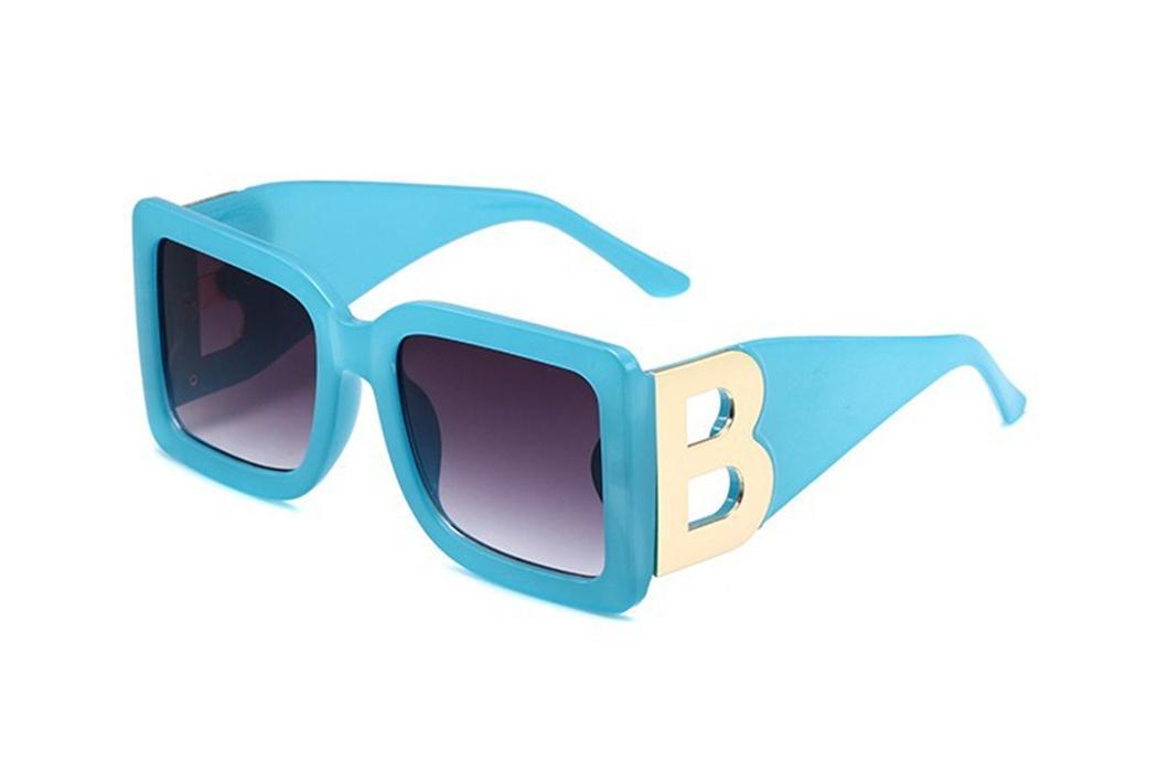 2021 تصميم الأزياء النظارات الشمسية 4312 لوحة مربع إطار كبير B جوفي معبد الكلاسيكية والسخية شكل نمط حماية UV400
