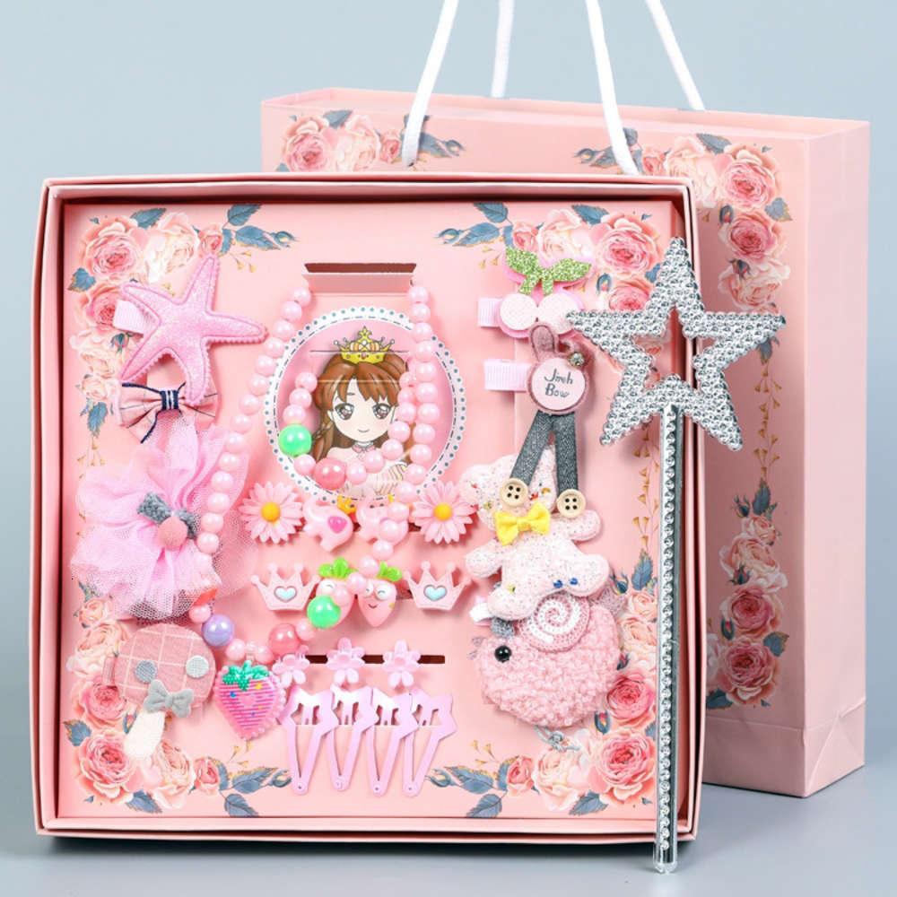 Neue 28 Stück Kinder Haarschmuck Set Koreanische Baby Haarnadel Prinzessin Krone Kopfschmuck Mädchen Bug Hairpin