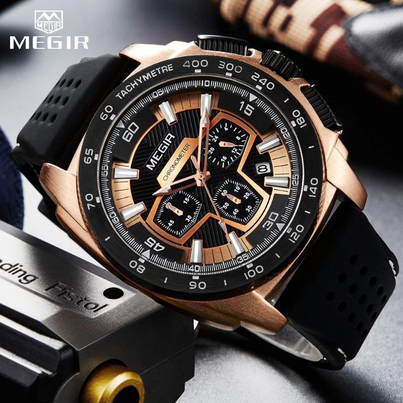 Fashion Men's Watches Top Clocks Big Dial Military Quartz Watch Men Waterproof Sport Chronograph Wristwatches