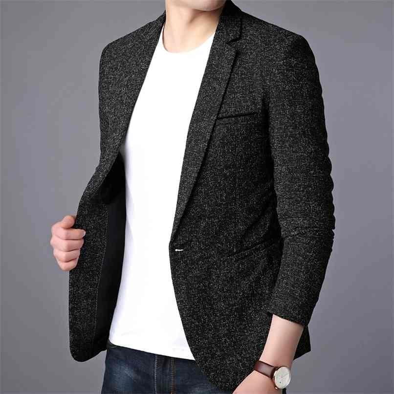 Men Suit Jacket Casual Blazers Formal Design Dress Coats Business s Blazer Plus Size 210915