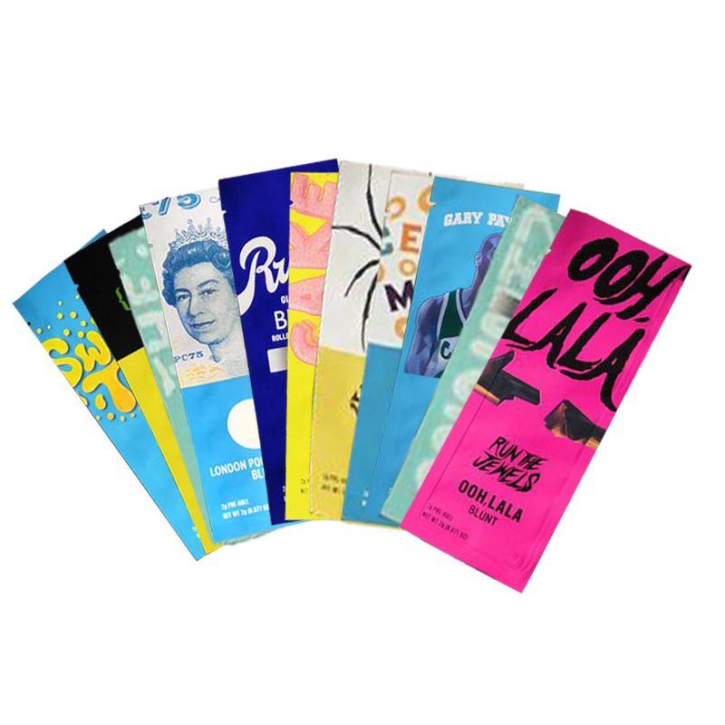Runtz pre roll blunts 2g mylar bag touch skin smusso odore a prova di mintz sacchetti di imballaggio di erbe asciutte 11 tipi con adesivi DHL