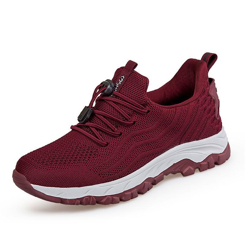الأحذية النسائية القديمة عارضة عدم الانزلاق لينة سوليد شبكة تناصفة خفيفة الوزن يمكن ارتداؤها الأم