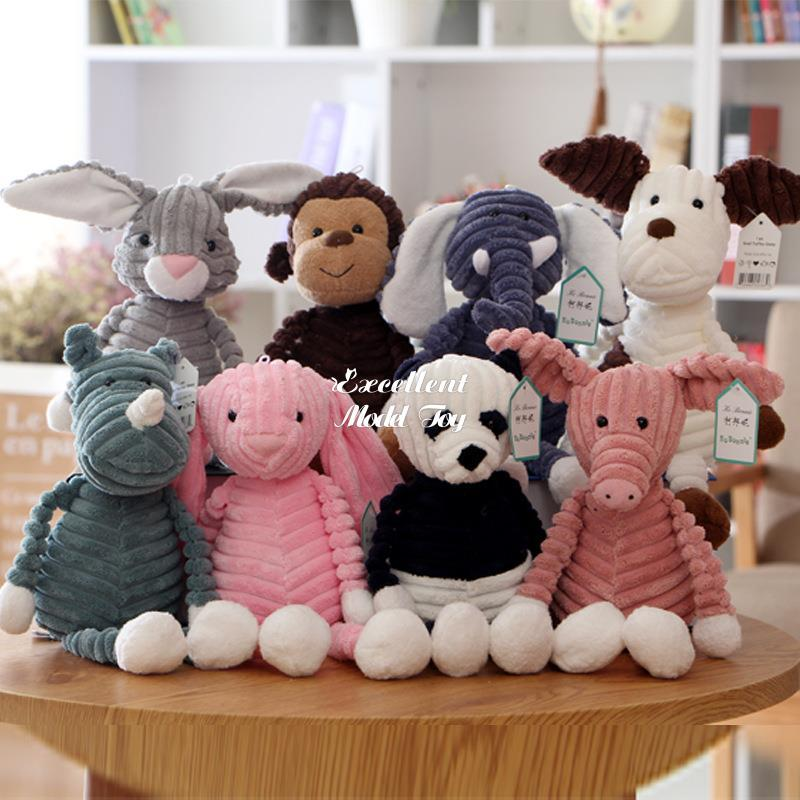Ugly& Cute 33cm Monkey Fox Panda, Elephant Doll, Plush Toy, Stuffed Animal Pendant Ornament for Christmas Kid Girl Birthday Gift, Home Decoration, 2-1