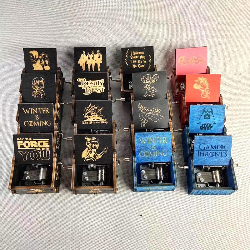 Kreative klassische dekor hölzerne musik box Alle Arten Bilder eingrabt Hand schütteln motivierte Harry Peiser Ornamente Musics Boxs Support Customized