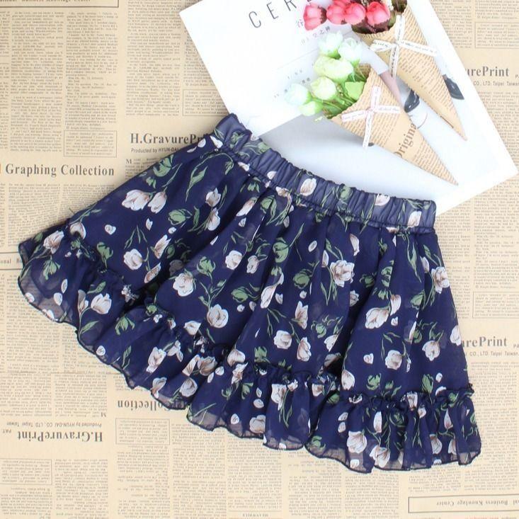 Kids Baby Girls Floral Print Tutu Skirt Princess Party Petticoat Teenage Ballet Dancing Skirts Children's Clothing X200