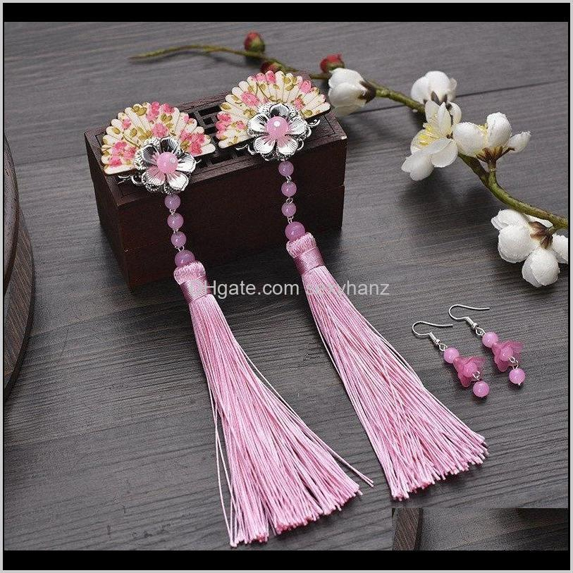 Costume Costumes & Apparel Drop Delivery 2021 Vintage Flower For Women Chinese Dynasty Hair Accessories Ancient Clip Princess Cosplay Wygc# C