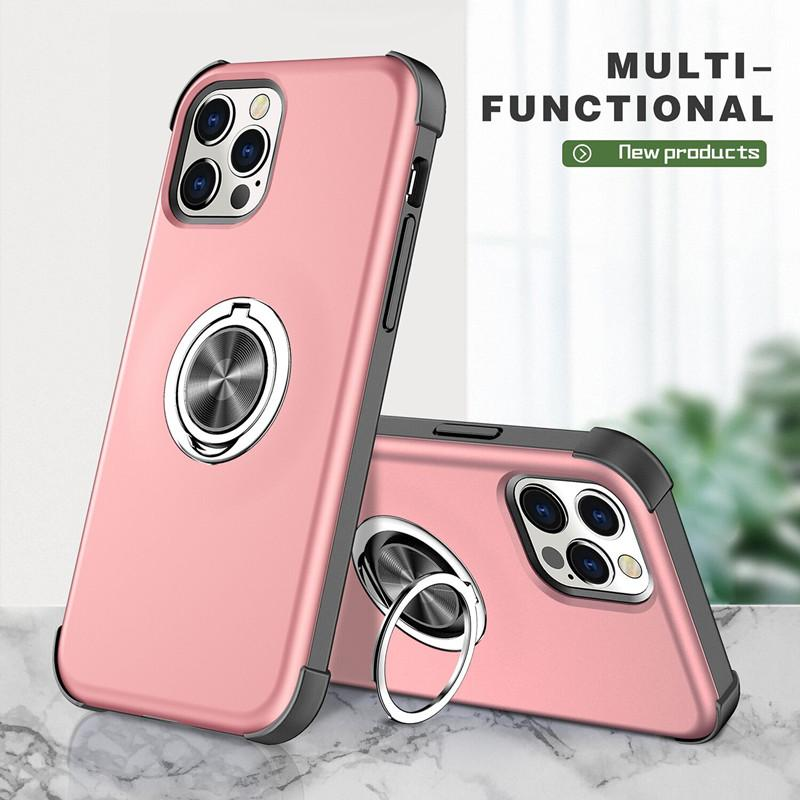 Cell Phones For Samsung Galaxy A72 A52 A12 A42 A32 Invisible 360 Ring Holder Powerful Magnet Phone Cover case Shockproof A