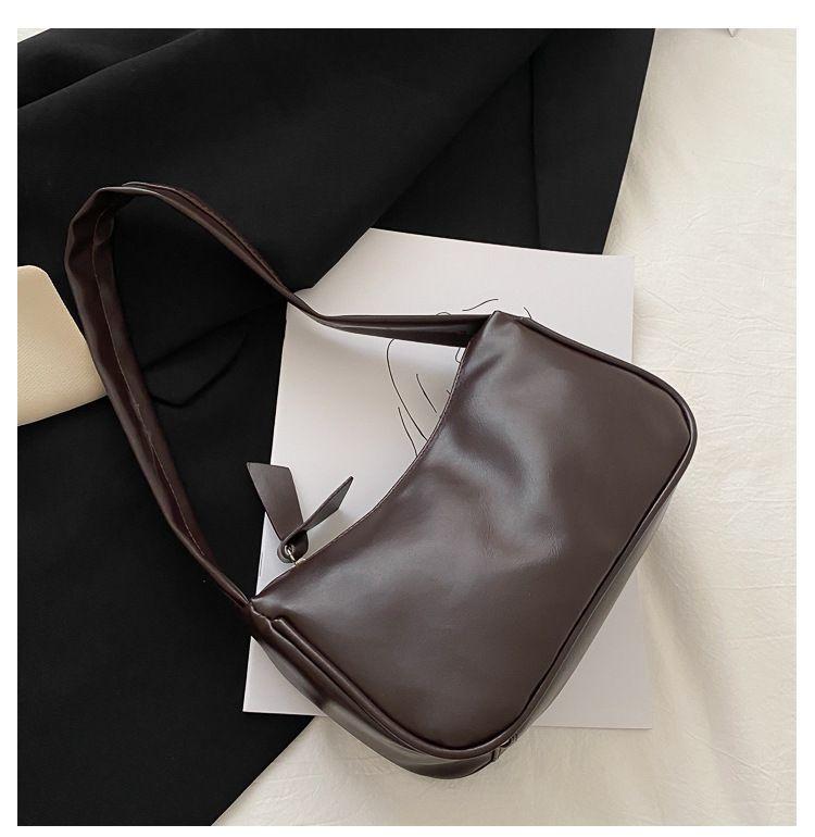 2021 حقيبة كتف المرأة المرأة عالية الجودة بو الجلود الإبط أكياس الرجعية عارضة حقيبة يد